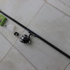 Lanseta Bologneza Mifine Rapido 4 Metri + Mulineta + Fir Nylon Aqua Crocodile - Set pescuit