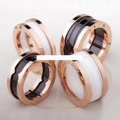 Inel BVLGARI 18ktgp ceramica - Inel placate cu aur