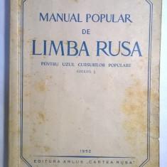 Manual popular de limba rusa vol. I
