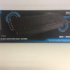 Tastatura Gaming Zalman ZM-K350M, Cu fir, USB