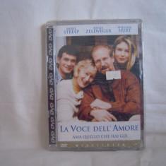 Vand dvd La  Voce Dell  Amore , tradus in italiana ,deosebit,original,sigilat  !