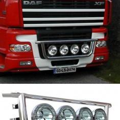 Bullbar/Bara Proiectoare Inox Grila Partea Inferioara Daf XF 95 - Tuning camioane