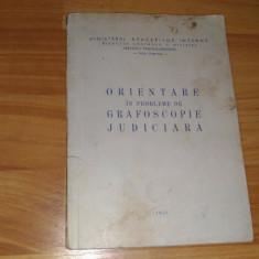 ORIENTARE IN PROBLEME DE GRAFOSCOPIE JUDICIARA