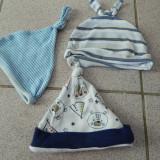 Set 3 caciulite, caciuli nou nascut, bebelusi, 0-6 luni, 56-68 cm, tip spiridus - Caciula Copii, Culoare: Din imagine, Marime: 30