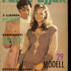 Reviste tricotaje Furge Ujjak (limba maghiara), dec. 1993, ian. 1994, iunie 1997 - Revista moda