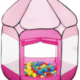 Cort De Joaca Cu 250 Bile Bath Of Balls Pink - Casuta copii Knorrtoys