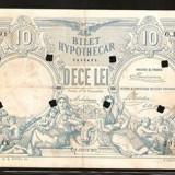 Bilet Hypotecar -10 lei 1877-perforat - Bancnota romaneasca
