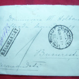 Plic circulat Chisinau-Bucuresti cu 6 si 3 lei Uzuale Ferdinand, recomandat