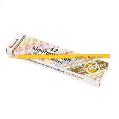 Set 12 Creioane Colorate Goldline 3.7 Mm Galben Deschis- Heutink - Creion