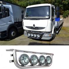 Bullbar/Bara Proiectoare Inox Grila Partea Inferioara Renault Midlum - Tuning camioane
