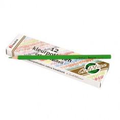 Set 12 Creioane Colorate Goldline 3.7 Mm Verde Deschis - Heutink