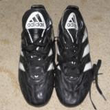 Ghete Adidas cu crampoane, negre, marimea 44, fotbal - Ghete fotbal, Culoare: Negru