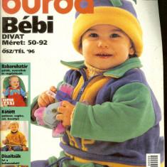 Reviste moda BURDA BEBI divat (limba maghiara), 1994, 1995, 1996, 1997