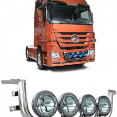 Bullbar/Bara Proiectoare Inox Grila Partea Inferioara Mercedes Actros Mp2, Mp3 2003-2010 - Tuning camioane