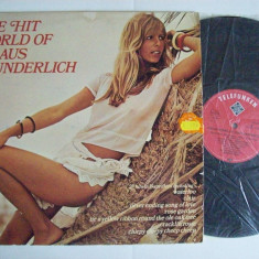 Disc vinil THE HIT WORLD OF KLAUS WUNDERLICH (Produs Telefunken - Germania 1975)