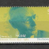 Germania.2002 125 ani nastere H.Hesse-scriitor PREMIUL NOBEL SG.1123 - Timbre straine, Nestampilat