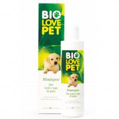 Sampon bio pentru caini, toate tipurile de blana, 250 ml, Bema Bio Love Pet