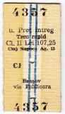 2.Bilet tren rapid CFR Cluj Napoca Brasov pret intreg 28 IUN 1985