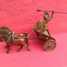 # 2 Caleasca Romana din bronz patinat in cupru !!! - Metal/Fonta, Ornamentale
