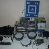 CONSOLA PS3  500 GB (CONSOLA+2 JOYSTICK, 39 JOCURI, MOVE CONTROLLER + CAMERA)