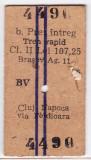 Bilet tren rapid CFR Brasov Cluj Napoca pret intreg 31 AUG 1998