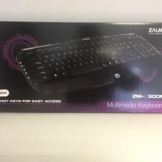 Tastatura Gaming Zalman ZM-K300M, Cu fir, USB