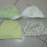 Set de patru caciulite nou nascut, caciulite bebe, 0-3 luni, 46-56 cm, H&M - Caciula Copii, Culoare: Din imagine, Marime: 30
