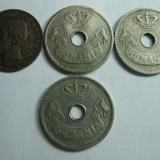 """Romania (9) - 2 bani 1900 """"R"""" intrerupt, 10 bani 1905, 1906, 1906 J"""