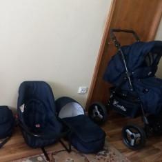Carucior bebe 3 in 1 - Carucior copii 3 in 1 Kerttu, Albastru