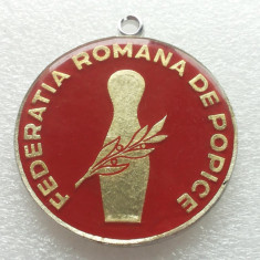 POPICE-MEDALIA FEDERATIEI ROMANE DE POPICE-1977 - Medalii Romania, An: 1971