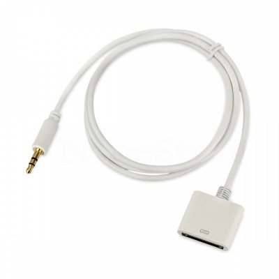 Cablu aux jack 3,5 mm la 30 pini iphone, Adaptor Dock audio - iPhone 4 4S iPod foto