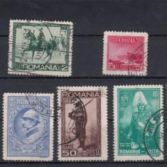 ROMANIA 1931, LP 89, CENTENARUL ARMATEI SERIE STAMPILATA - Timbre Romania