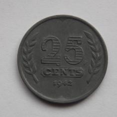 25 CENTI 1942 OLANDA, Europa