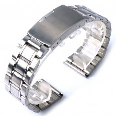 BRATARA CEAS METALICA INOX -CUREA- MODEL 2017 - 2 DIMENSIUNI 20mm SAU 22mm !!! - Curea ceas din metal