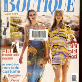 Revista moda BOUTIQUE - iulie 2005, completa, cu insert