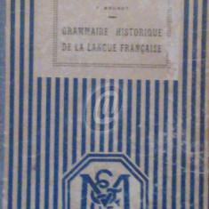 Grammaire historique de la langue francaise - Carte Editie princeps