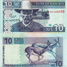 NAMIBIA 10 dollars ND 2001 UNC!!!