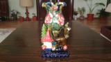 Vaza Statueta veche din ceramica lucrata manual