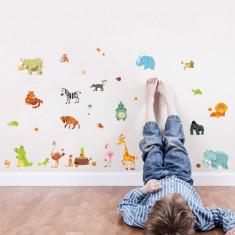 Sticker perete autocolant animale camera copilului