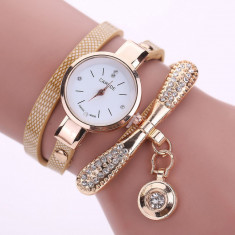 Ceas de dama Rhinestone Cristal GOLD quartz SUPER PRET! - Ceas dama, Fashion, Otel, Analog