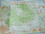 Romania harta color turistica scara 1 : 850 000 1970