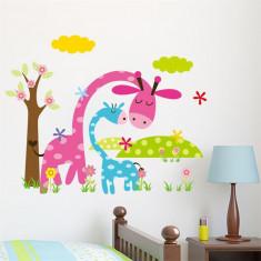 Sticker perete autocolant cu girafa camera copilului 45x36cm
