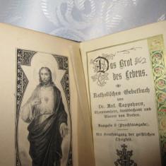 CARTE CATOLICA DE RUGACIUNI 1906 - GRAVURA ISUS - LIMBA GERMANA COPERTA PIELE