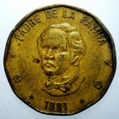 1.892 REPUBLICA DOMINICANA JUAN PABLO DUARTE 1 PESO 1991, America Centrala si de Sud