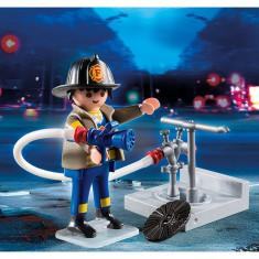 Pompier cu furtun Playmobil