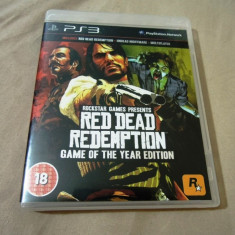 Red Dead Redemption Game of the Year Edition, PS3, original, alte sute de jocuri - Jocuri PS3 Rockstar Games, Shooting, 18+, Single player