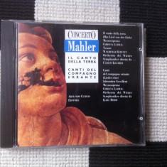 Mahler concerto il canto della terra cd disc muzica clasica editie vest