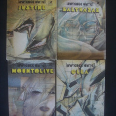 LAWRENCE DURRELL - JUSTINE, BALTHAZAR, MOUNTOLIVE, CLEA 4 volume - Roman dragoste, An: 1983