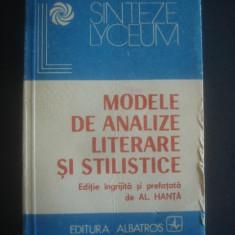 AL. HANTA - MODELE DE ANALIZE LITERARE SI STILISTICE
