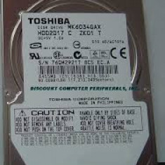 Hdd IDE laptop Toshiba, 60 gb, testat, garantie 6 luni. - HDD laptop Toshiba, 41-80 GB, Rotatii: 5400, 8 MB
